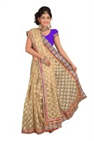 Chirag Sarees Self Design Embroidered Embellished Jacquard Sari