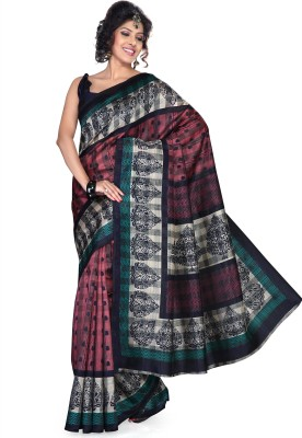 Saree Swarg Printed Art Silk Sari available at Flipkart for Rs.294