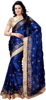 Four Seasons Embriodered Fashion Satin Sari