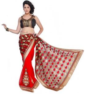 Chirag Sarees Solid Bollywood Art Silk Sari