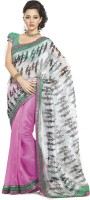 Taanshi Printed Net Sari