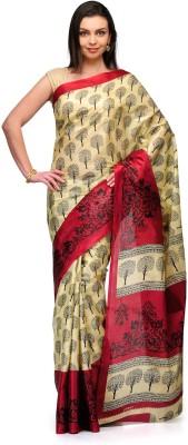 Studio Shubham Studio Shubham Geometric Print Fashion Art Silk Sari (Maroon)