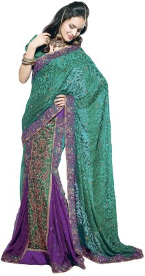 Fashiontra Self Design Lehenga Saree Georgette, Brasso Sari available at Flipkart for Rs.2747
