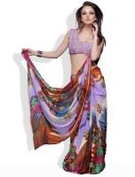 Adaas Solid Synthetic Sari
