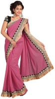 Chirag Sarees Self Design Embroidered Embellished Chiffon Sari - SARDWMQFJZKHQFFF