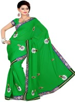 Sourbh Sarees Self Design Embroidered Georgette Sari - SARDWKG8UGAZHFGV