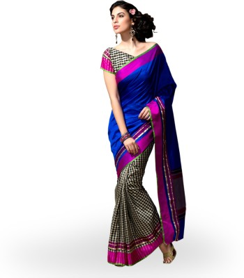 Rangoli Rangoli Self Design Fashion Silk Sari (Blue)