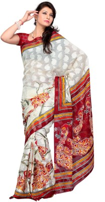 Dream Saree Printed Daily Wear Brasso Sari available at Flipkart for Rs.2450