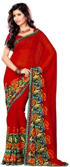 Sangam Saree Floral Print Fashion Georgette Sari - SARE2PGKUYCHGFMT