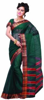 Ishin Solid, Striped Fashion Cotton Sari