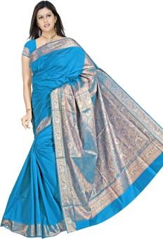 Lokenath Sarees Applique Mysore Art Silk Sari