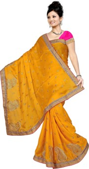 Premlaxmi Embriodered Bollywood Satin Sari