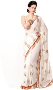 Sareeka Sarees Floral Print Bollywood Chiffon Sari