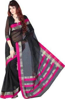 Devi Silk Mills Self Design Fashion Silk, Cotton Sari