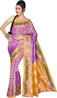 Anya Sarees Embellished Dharmavaram Handloom Pure Silk Sari