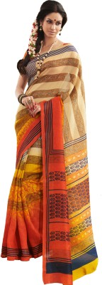 Saree Swarg Printed Art Silk Sari available at Flipkart for Rs.899