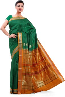 Ishin Embriodered Fashion Poly Silk Sari