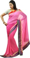 Hawai Solid, Printed Embroidered Georgette Sari