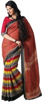 India Silk House Printed Silk Sari