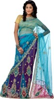 Saree House Self Design Embroidered Embellished Net Sari