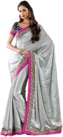 Hypnotex Self Design Embroidered Embellished Art Silk Sari - SARDV9VNPUSQWGWP