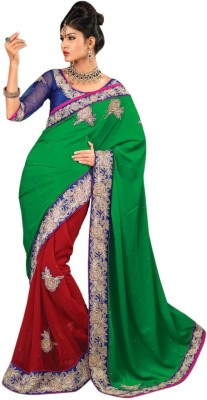 Triveni Floral Print Fashion Georgette Sari