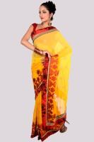 Aparnaa Floral Print Embroidered Embellished Chiffon Sari