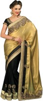 Chirag Sarees Self Design Embroidered Embellished Crepe Sari