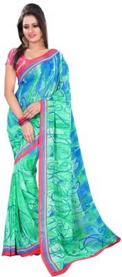 Sweethearts Fashion Sweethearts Fashion Geometric Print Daily Wear Georgette Sari (Multicolor)
