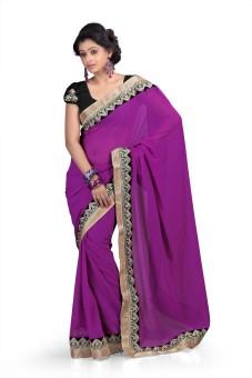 Chirag Sarees Solid Fashion Chiffon Sari