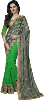 Manvaa Self Design Fashion Viscose Sari