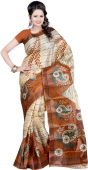 Kajal Sarees Printed Embellished Art Silk Sari