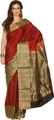 Rangoli Rangoli Self Design Coimbatore Silk Sari (Maroon)