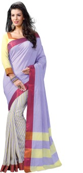 Roop Kashish Striped Fashion Cotton Sari