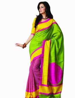 Sunaina Printed Cotton Sari: Sari