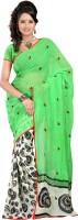 Bunny Sarees Self Design Embroidered Georgette Sari
