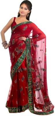 Saree India Self Design Bollywood Net Sari