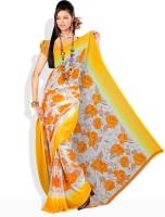 Florence Floral Print Chiffon Sari