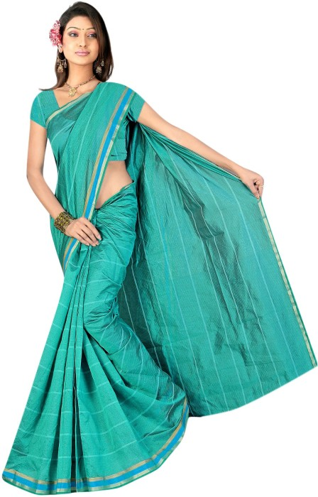 Radha Saree Self Design, Printed Chanderi Polycotton Sari