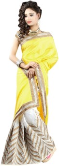 Bollywood Designer Self Design Bollywood Art Silk Sari