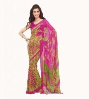 De Marca Printed Georgette Sari