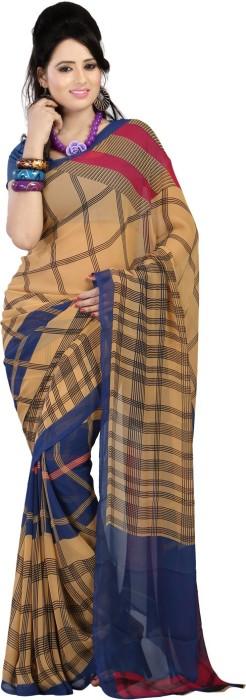 Bunny Sarees Geometric Print Chiffon Sari