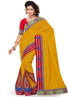 Click Sarees Floral Print Bollywood Chiffon Sari