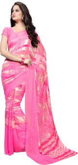 Manvaa Printed Fashion Machine Georgette Sari