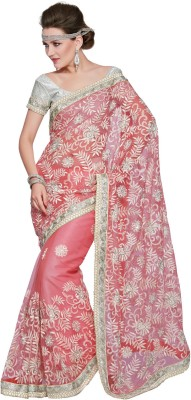 Fabdeal Printed Embroidered Embellished Net Sari available at Flipkart for Rs.7309