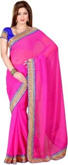 Hemakshi Self Design, Solid Bollywood Chiffon Sari