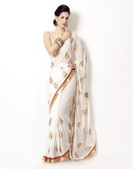 Ayushi Saree Embriodered Fashion Chiffon Sari Pack Of 6