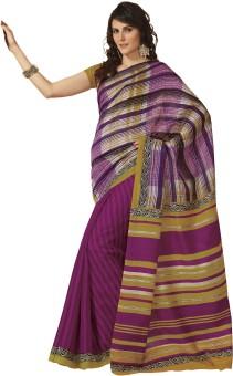 Rajguru Rise Striped Bhagalpuri Art Silk Sari