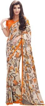 Fabdeal Floral Print Fashion Jacquard Sari