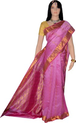 Lifestyle Lakshmi Lifestyle Self Design Kanjivaram Handloom Pure Silk Sari (Multicolor)
